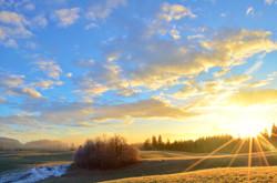H0008 Wolkenspiel Herbstmorgen