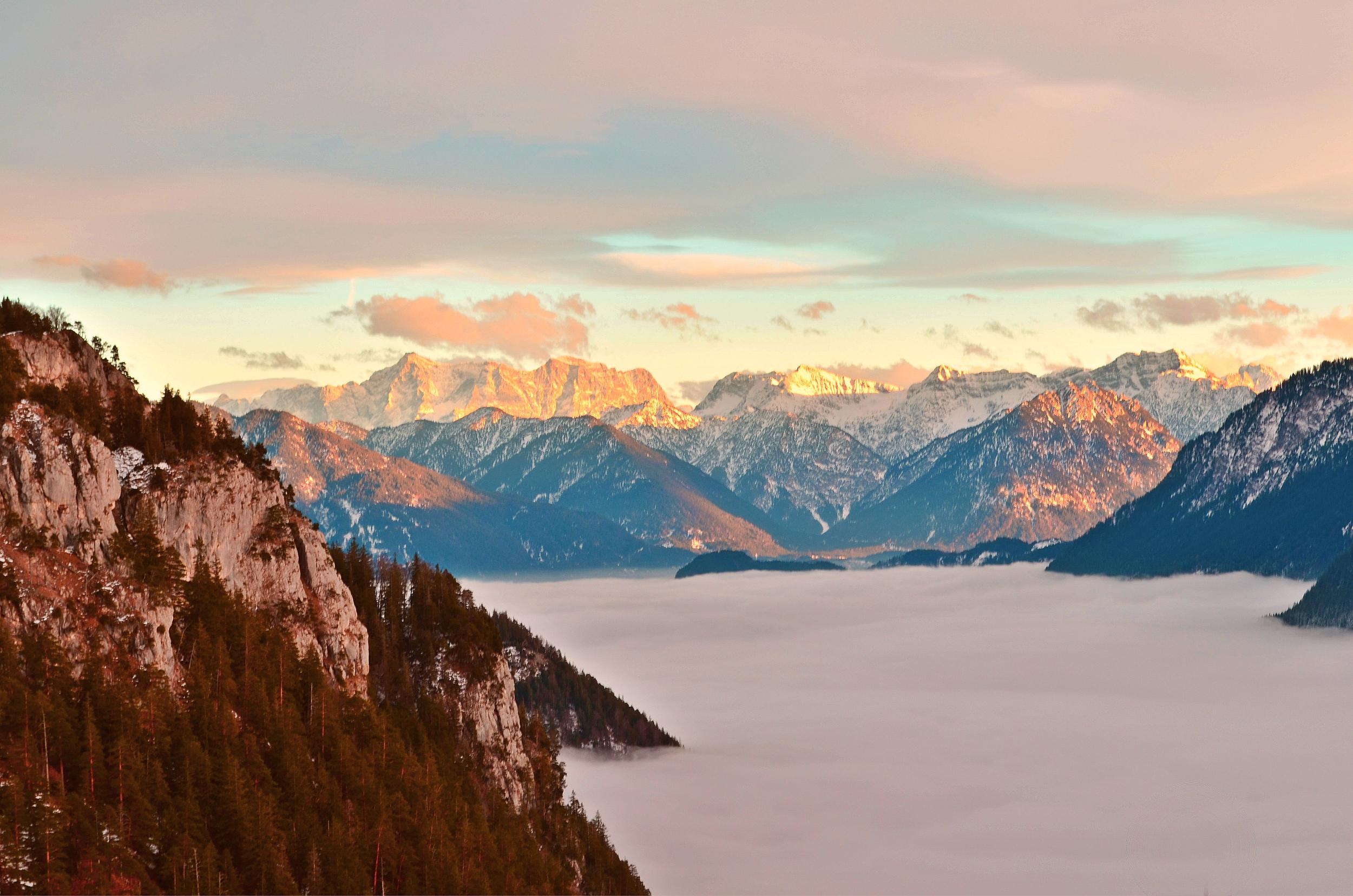 B0016 Blick zur Zugspitze v. Falkenstein