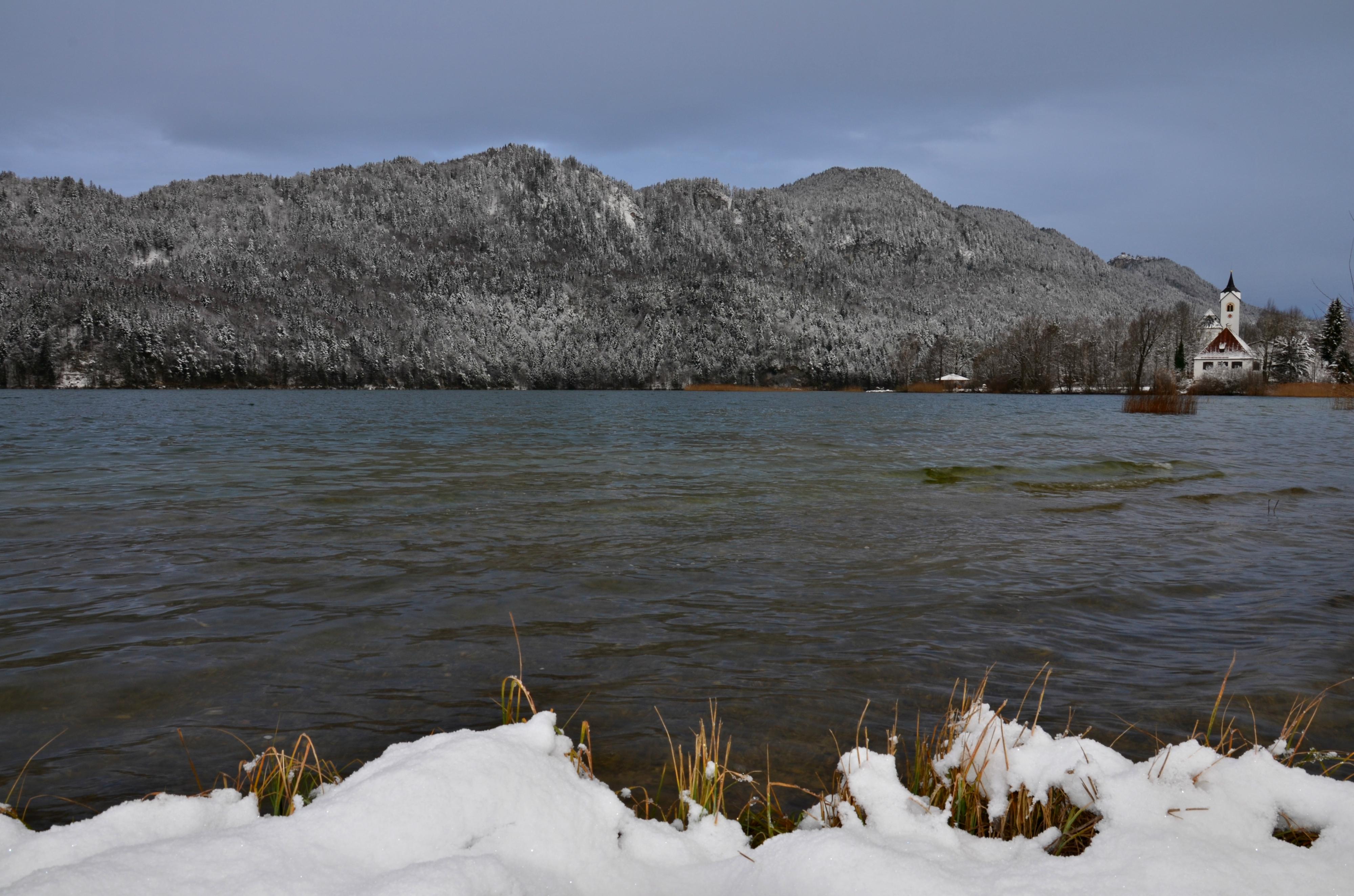 G0233 Wintermorgen am Weissensee