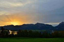 G0087 St.Urban Blick auf Forggensee Morgensonne