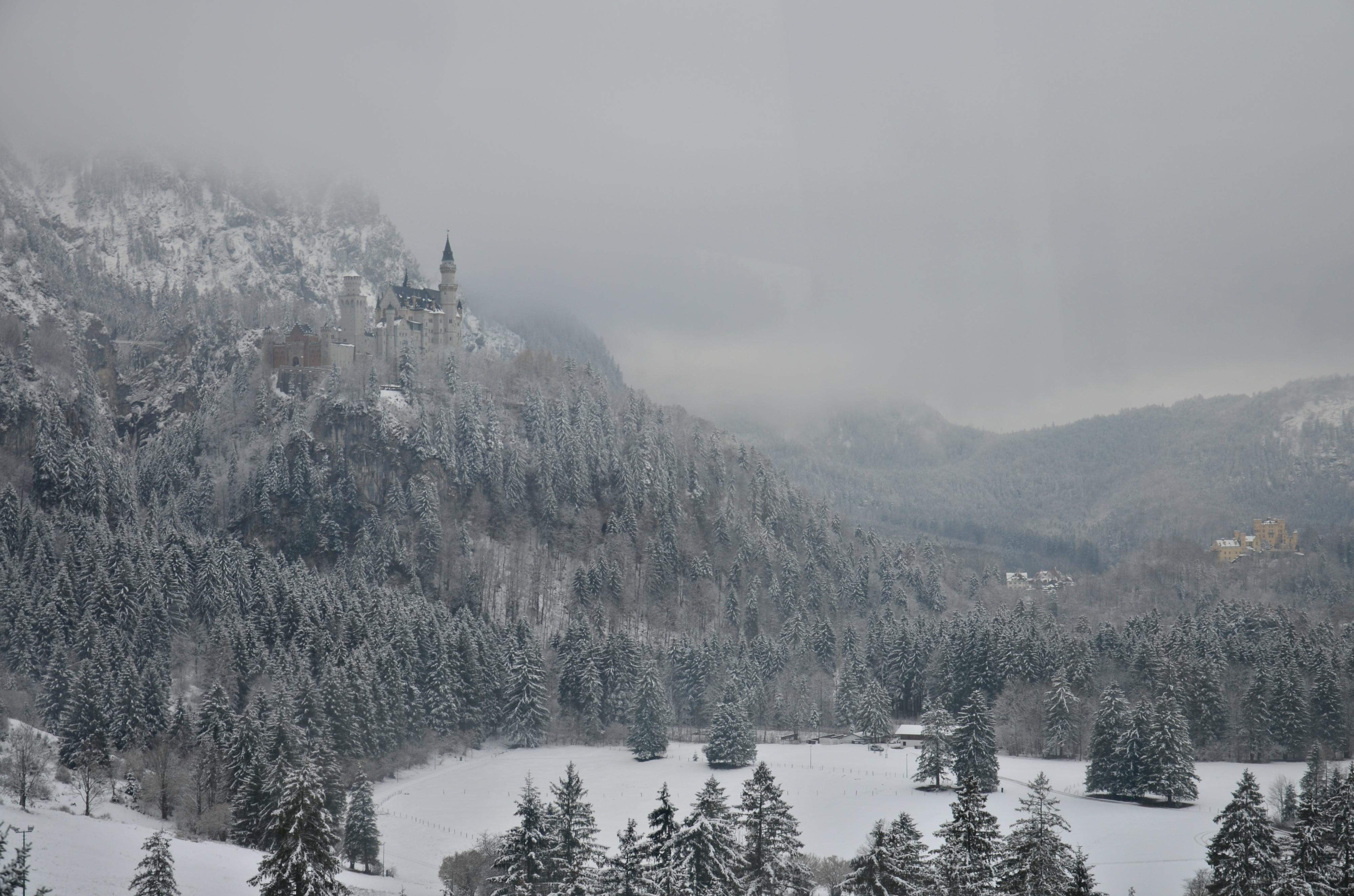 B0085 Schloss Neuschwanstein Winterlandschaft