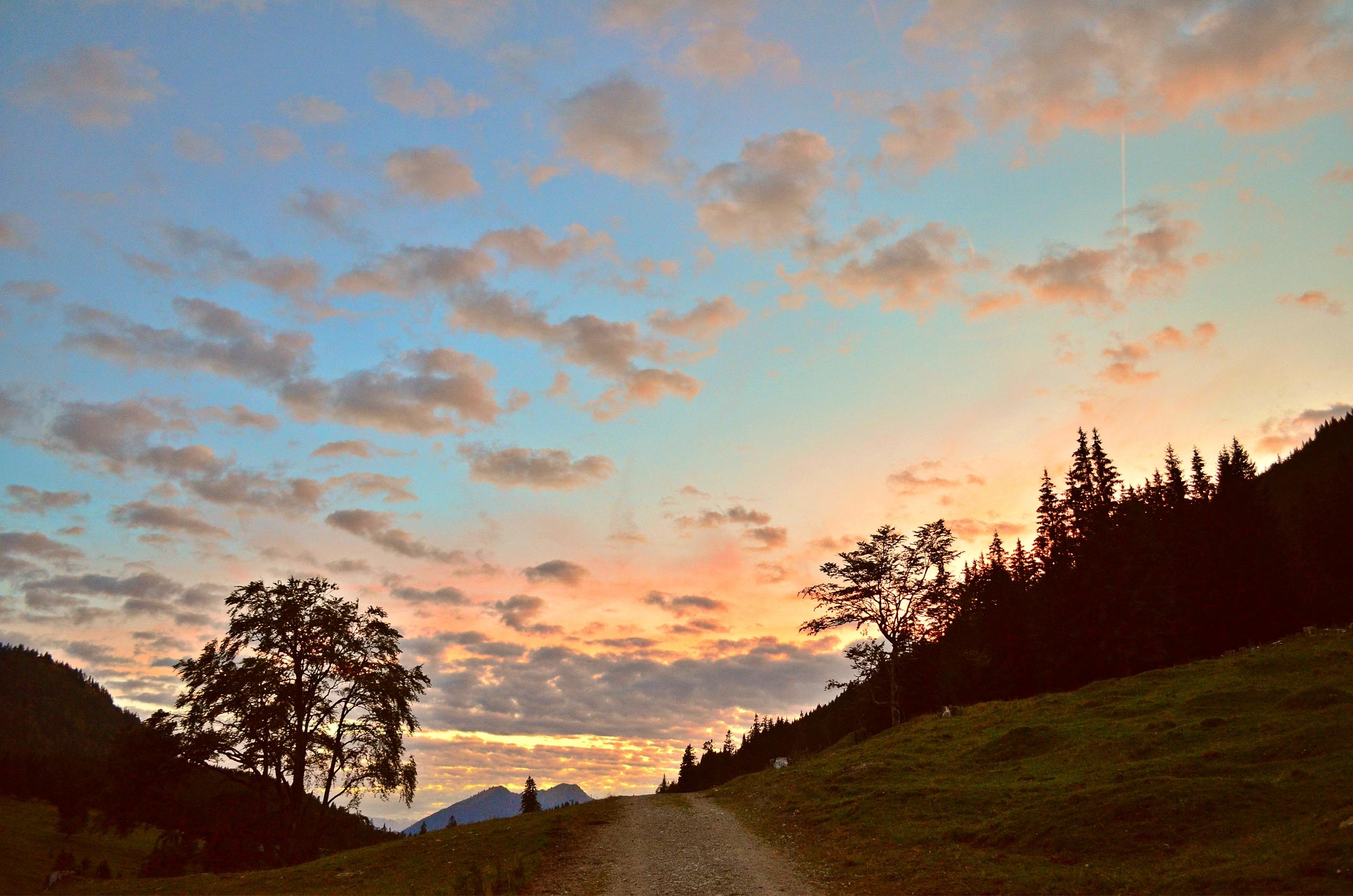 A0016 Abendrot am Berg(Bärenmoos)