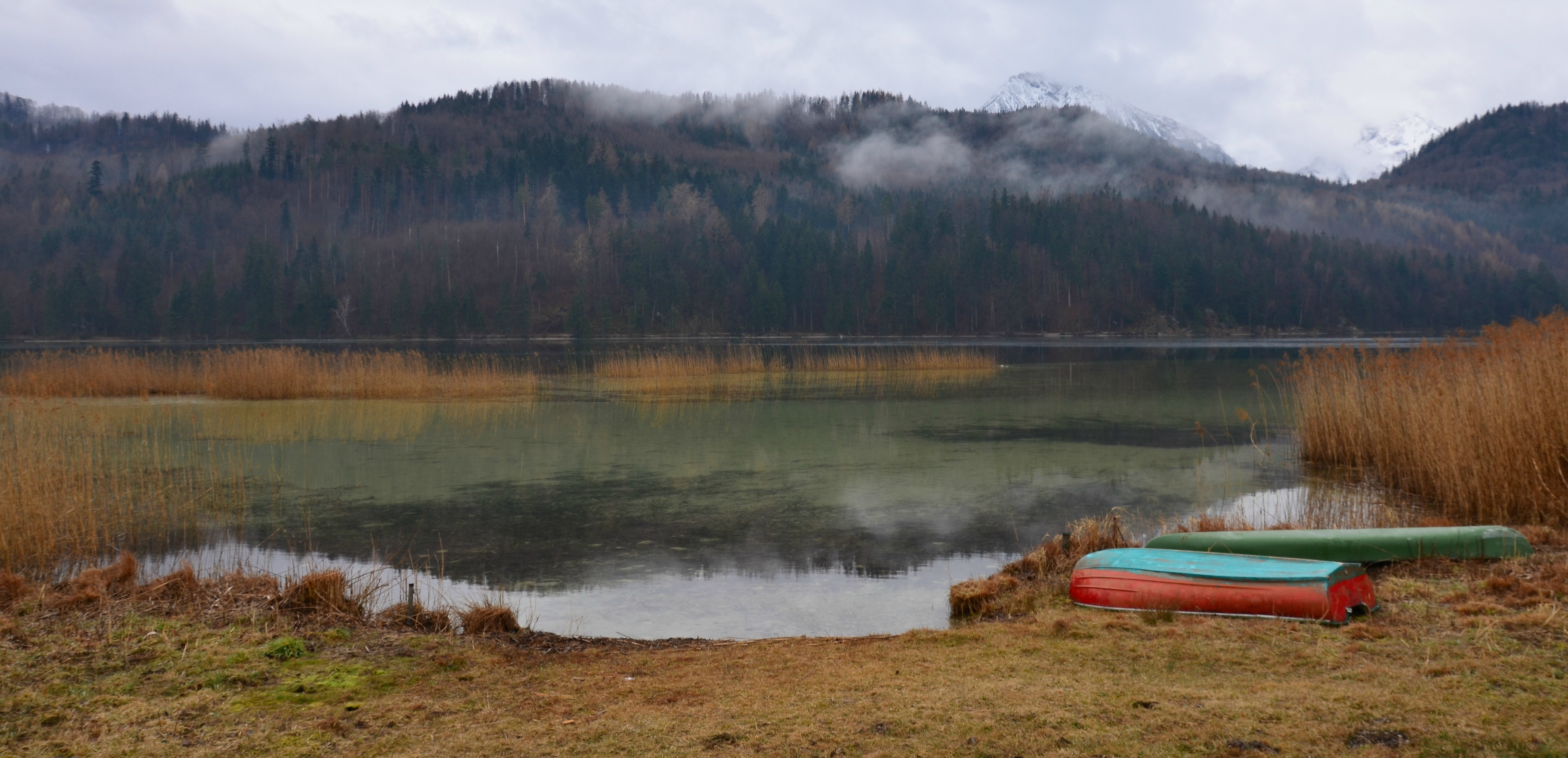 G0240 Ruhe am See-Boote Weissensee