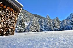 W0075 Frostzauber Achtal Holzhütte