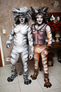 cats bodypainting