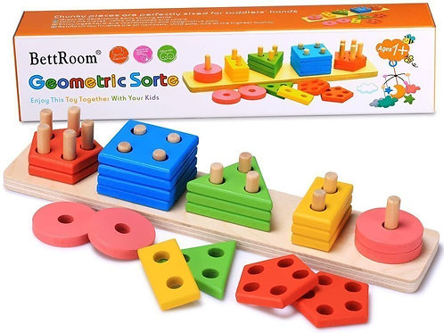 BettRoom Wooden Educational Preschool Toddler Toys
