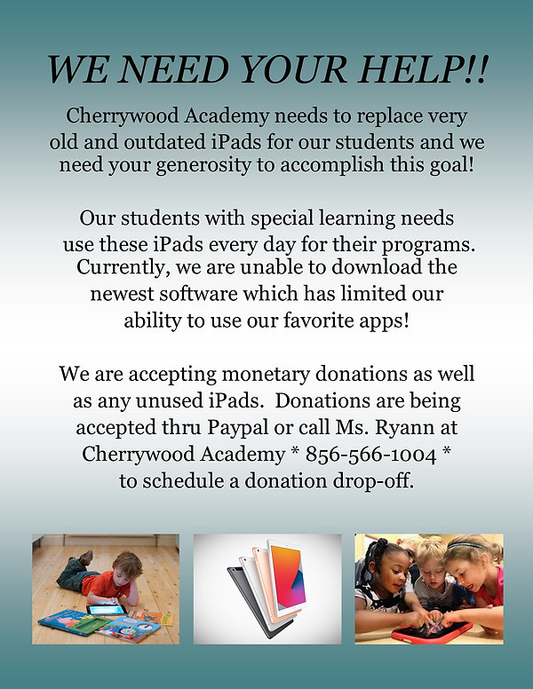 iPad Donations Flyer for parents and stu