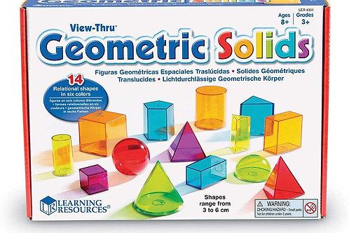 Learning Resources View-Thru Geometric Solids, Geometry Helper