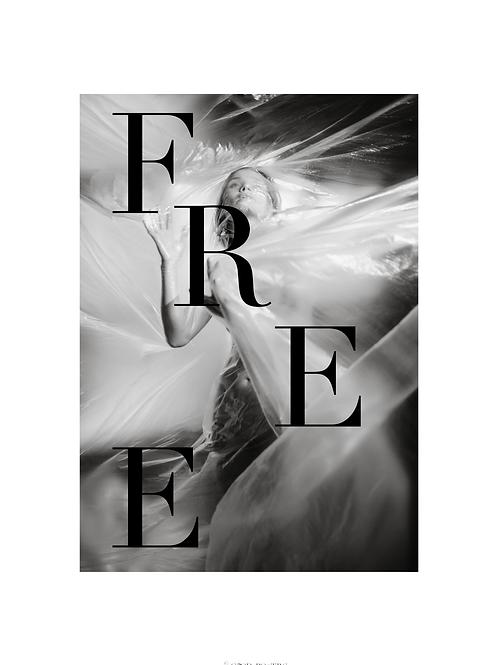 FREE/PLASTIC FREE ©GOOD POSTERS 50x70 cm