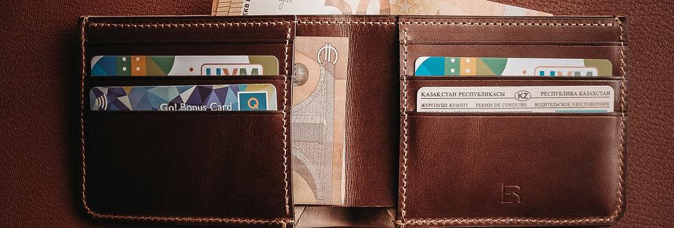Бумажник-бифолд средний