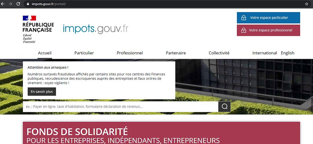 capture d'écran d'un site officiel avec cadenas dans l'url