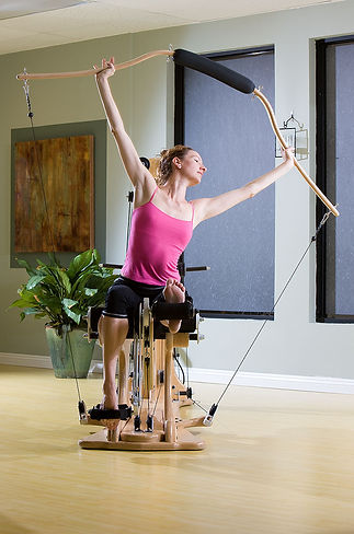Lisa Marie on Leg Extension Unit with Wingmaster