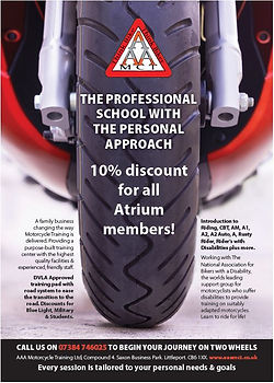 AAA Motorcycles - atrium members discoun