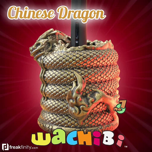 Wachibi No.7 Chinese Dragon Edition - Wacom Pen Holder - Apple Pencil Holder - by Freakfinity