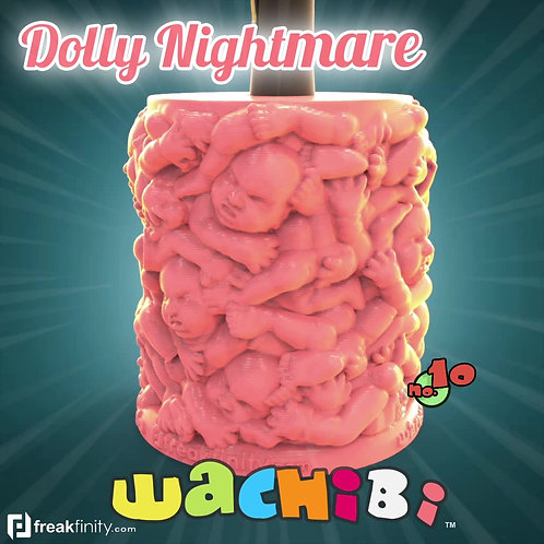 Wachibi No.10 Dolly Nightmare Edition - Wacom Pen Holder - Apple Pencil Holder - by Freakfinity