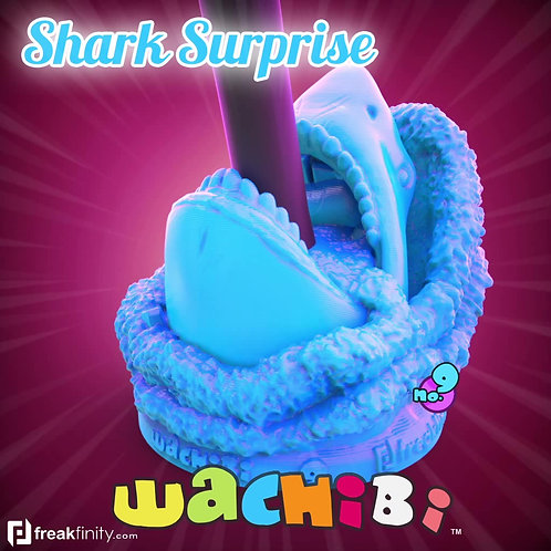 Wachibi No.9 Shark Surprise Edition - Wacom Pen Holder - Apple Pencil Holder - by Freakfinity