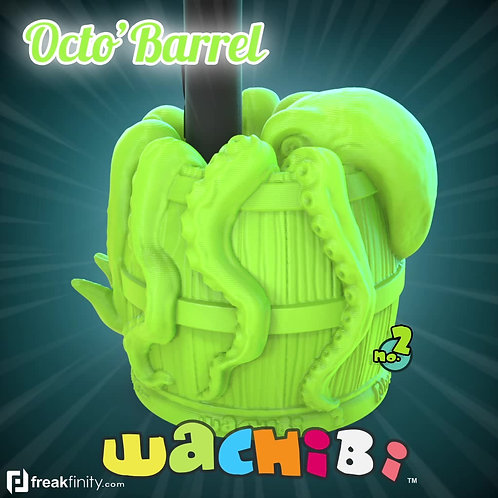 Wachibi No.2 Octo'Barrel Edition - Wacom Pen Holder - Apple Pencil Holder - by Freakfinity