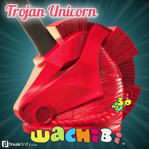 Trojan Unicorn Stylus Holder 3d printed for Digital Artists by freakfinity