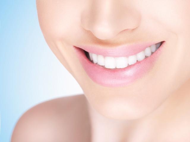 Female bright smile