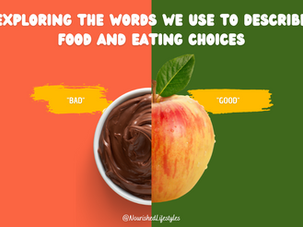 Exploring the Words We Use to Describe Food and Eating Choices