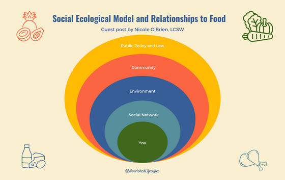 Social Ecological Model and Relationships to Food