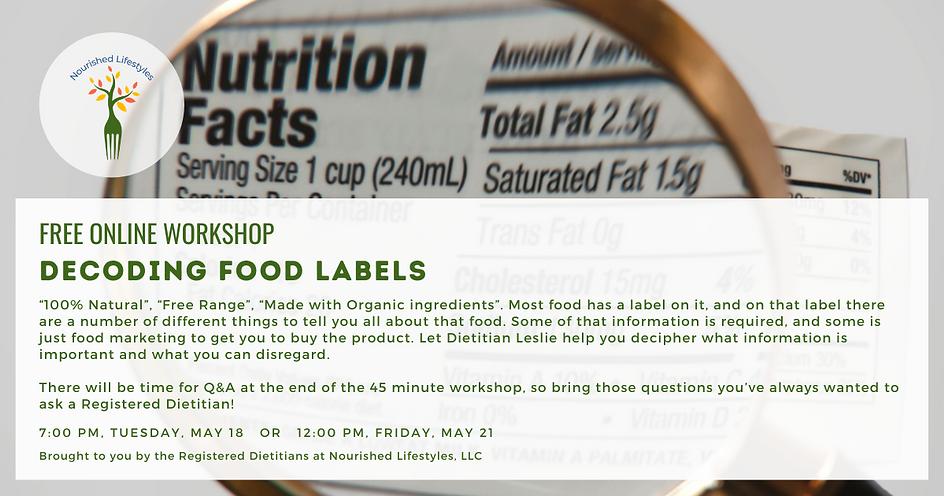 Food Labels Workshop
