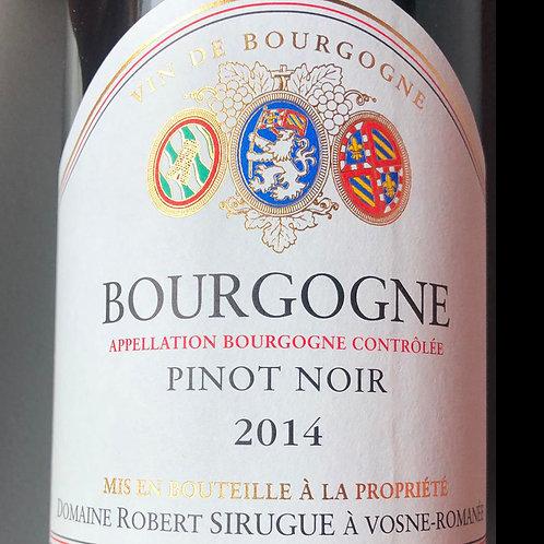 Bourgogne Pinot Noir 2014, Robert Sirugue