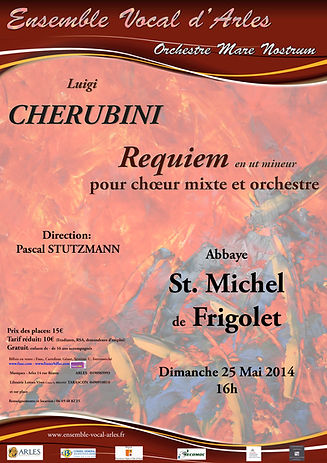 Affiche Requiem de Cherubini Saison 2014