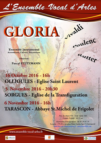 Affiche  prochains concerts Ensemble Vocal d'Arles