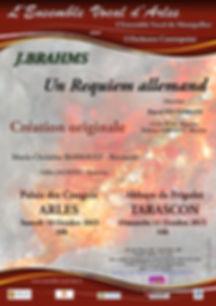 Affiche programme Brahms Ensemble Vocale d'Arles