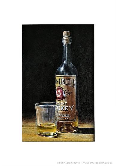Belle of Lincoln Whiskey Bottle Painting