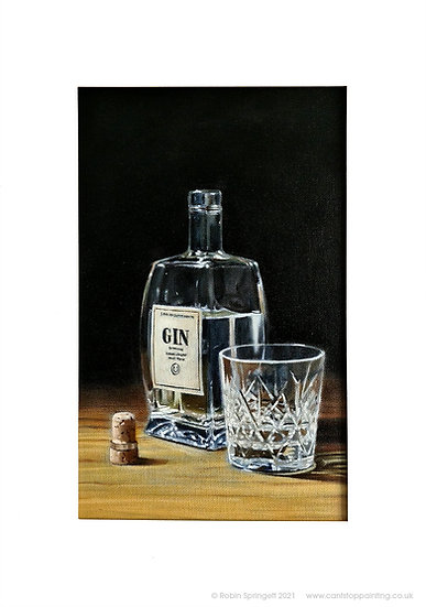 Shelby Gin Bottle Painting