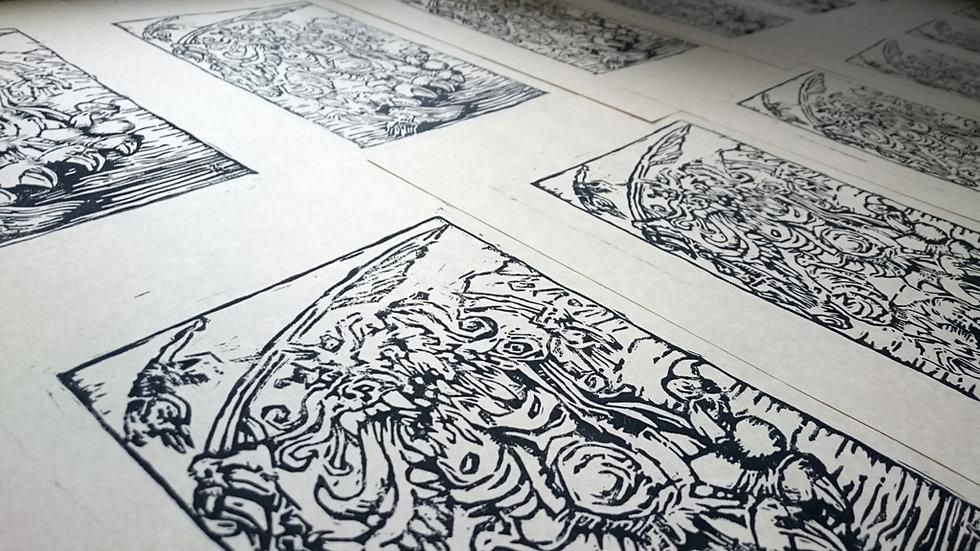 Sammael Block Print