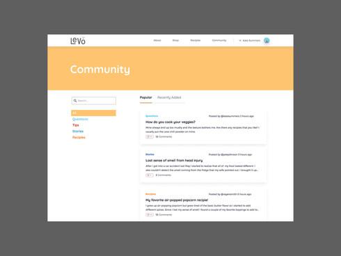 Levo Community Webpage