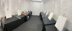 The pristine Splat Lab!  The calm before the splatter storm!