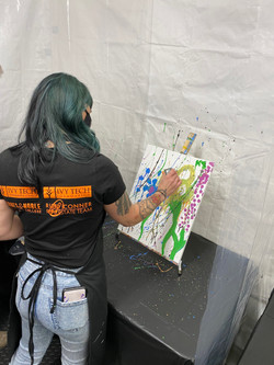 Krista expressing her inner artist!