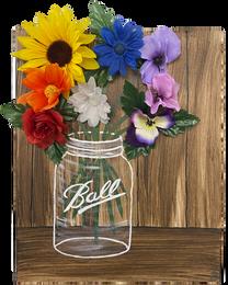 """Jar with Flowers"""