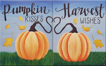 """Pumpkin Kisses"" ""Harvest Wishes"""