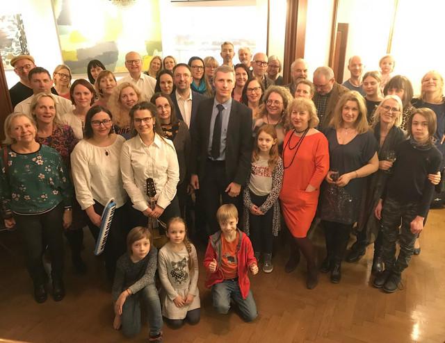Māra Čaklā piemiņas vakars Latvijas Vēstniecībā Stokholmā.08/03/2019