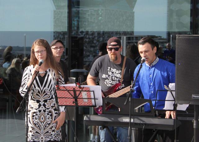Dzejas dienas 2019. Elīza Čaklā, Zigurds Šusters, Īstais Mārtiņš un Roberts Lūsis. 14/09/2019.