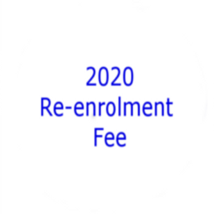 2020 Re-enrolment fee (existing students only)