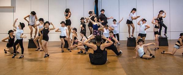 Jazz dancers in bowler hats