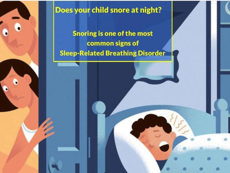 Is your child snoring? Bed wetting?