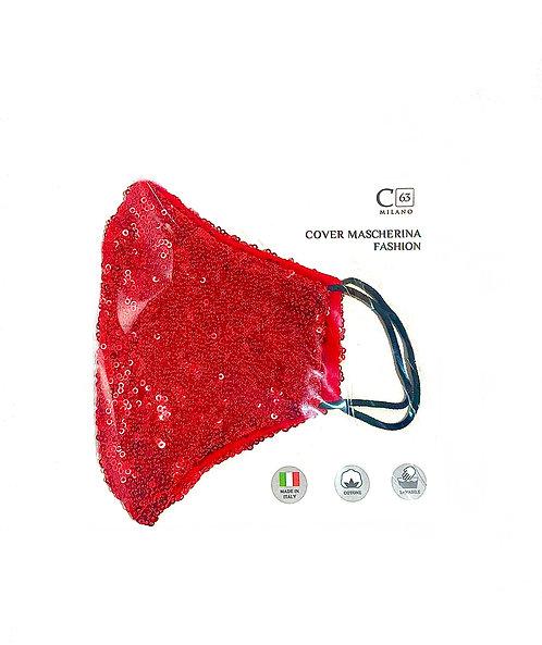 C63/Maske/Pailletten Rosso