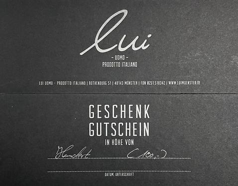 Gutschein/Wert 100,-