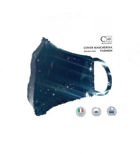 C63/Maske/Pailletten Nero
