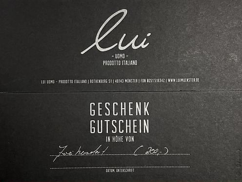 Gutschein/Wert 200,- Euro