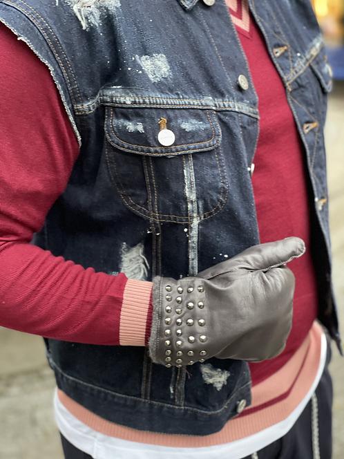 Handschuhe/Leder Grigio