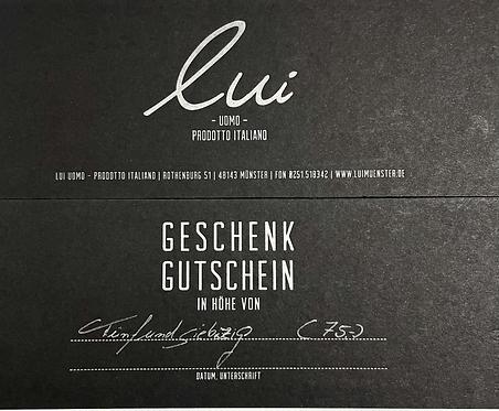 Gutschein/Wert 75,-