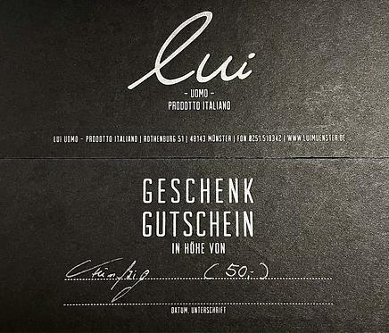 Gutschein/Wert 50,-